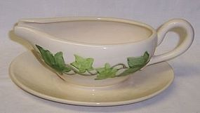 Franciscan IVY SAUCE BOAT with Attached Under Plate