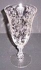 "Cambridge Crystal 3121 ROSE POINT 7"" 10 Oz FTD TUMBLER"