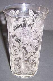 Morgantown Crystal AMERICAN BEAUTY Flat TUMBLER
