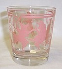 Hazel Atlas PINK PIG 3 1/4 In OLD FASHIONED WHISKEY