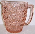 Jeannette Pink HOLIDAY BUTTON n BOWS WATER PITCHER