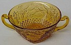 Indiana Amber PINEAPPLE and FLORAL Cream SOUP BOWL