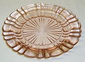 Hocking Pink OLD CAFE 6 1/2 Inch DESSERT PLATE