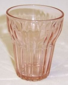 Hocking Pink OLD CAFE Depression 3 1/4 In JUICE TUMBLER