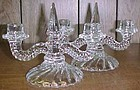 Fostoria Crystal COLONY Double CANDLE STICKS, Pair