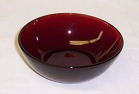 Anchor Hocking Fire King ROYAL RUBY 4 1/2 In BERRY BOWL