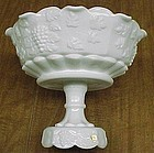 Westmoreland Milk Glass PANELED GRAPE 9 In COMPORT