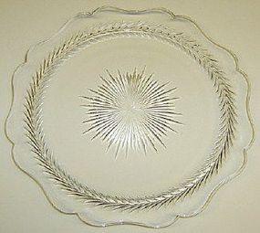 Jeannette Crystal SUNBURST 9 1/4 Inch DINNER PLATE