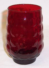 Anchor Hocking Fire King Red BUBBLE 4 1/2 WATER TUMBLER