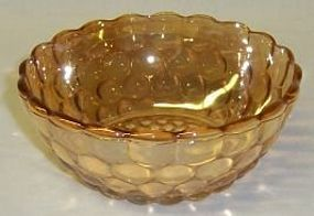 Anchor Hocking Fire King Iridescent BUBBLE 4 FRUIT BOWL