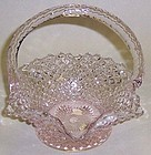 Westmoreland Pink ENGLISH HOBNAIL 6 1/4 Handled BASKET
