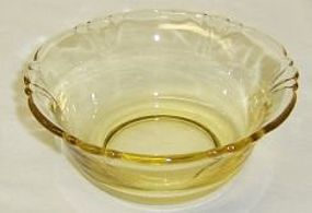 Heisey Sahara Yellow EMPRESS No 1401 4 1/4 BERRY BOWL