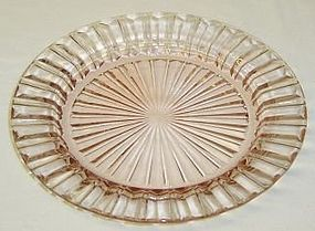 Hocking Depression Glass Pink FORTUNE 6 5/8 Inch PLATE