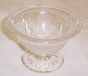 Hazel Atlas Crystal ROYAL LACE Footed SHERBET DISH