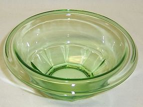 Hazel Atlas Green REST WELL 5 1/4 Inch MIXING BOWL