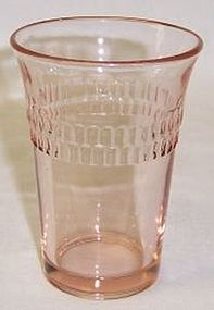 Hocking Pink ROULETTE 3 1/2 In 5 Ounce JUICE TUMBLER