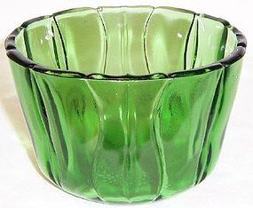 Dell Depression Glass Green TULIP 4 7/8 Inch ICE TUB