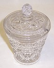 Imperial Crystal CAPE COD MARMALADE w/Cut Out LID