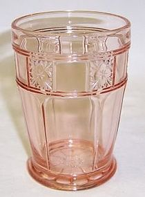 Jeannette Pink DORIC 4 Inch High FOOTED TUMBLER