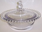 Imperial Crystal CANDLEWICK 8 In COVERED BOWL