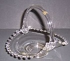 Imperial Crystal CANDLEWICK 6 1/2 Inch HANDLED BASKET