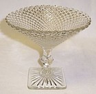 Hocking Crystal MISS AMERICA 5 1/4 Inch Mint COMPORT