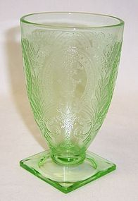 Indiana Green No. 612 HORSESHOE 4 In Footed TUMBLER