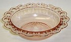 Hocking Pink OLD COLONY 9 1/2 Inch Plain BOWL
