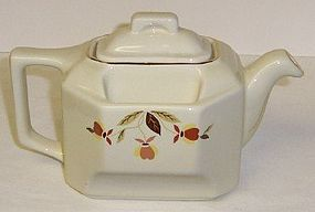 Hall China 2000 NALCC Autumn Leaf TEABALL TEAPOT w/LID