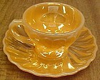 Anchor Hocking Lustre SHELL Demitasse CUP and SAUCER