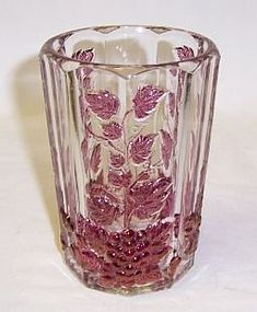 Westmoreland Ruby Flashed PANELED GRAPE WATER TUMBLER