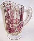 Westmoreland Ruby Flashed PANELED GRAPE Pint PITCHER