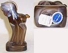 Imperial Caramel Slag Glass STANDING COLT, Orig. Label