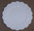 Westmoreland Milk Glass PANELED GRAPE 8 1/2 SALAD PLATE