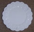 Westmoreland Milk Glass PANELED GRAPE 8 1/2 SALAD PLATE
