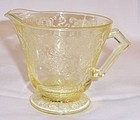 Hazel Atlas Yellow FLORENTINE 2 POPPY 2 CREAMER