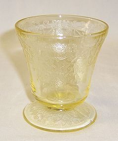 Hazel Atlas Yellow FLORENTINE 2 3 1/4 Ft JUICE TUMBLER