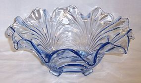 Cambridge Moonlight Blue CAPRICE 11 In CRIMPED BOWL