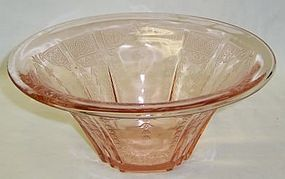 Hocking Pink PRINCESS 9 1/2 Inch HAT Shaped BOWL