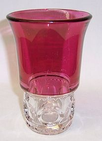 Indiana Ruby Flashed KINGS CROWN 5.5 Flat TEA TUMBLER