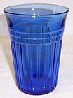 Hazel Atlas Cobalt Blue NEW CENTURY 4 1/8 WATER TUMBLER