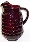 Anchor Hocking Royal Ruby Red BUBBLE 64 Oz PITCHER