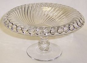 Westmoreland Crystal BALL and SWIRL 7 1/2 Inch COMPORT