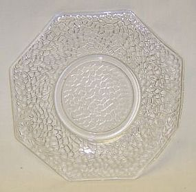 Federal Crystal JACK FROST CRACKLED 5 7/8 Inch PLATE