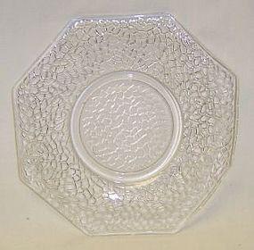 Federal Crystal JACK FROST CRACKLED 5 7/8 Inch PLATE