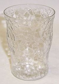 Federal Crystal JACK FROST CRACKLED 4 Inch WATER TUMBLER