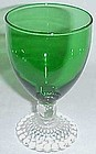 Anchor Hocking Fire King Green BUBBLE 5 1/2 Inch WATER GOBLET