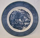 Royal China CURRIER and IVES Old GRIST MILL 10 Inch DINNER PLATE