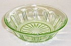 Hocking Depression Green COLONIAL KNIFE and FORK 4 1/2 FRUIT BOWL