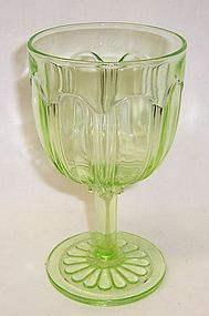 Hocking Green COLONIAL KNIFE and FORK 5 3/4 In 8.5 Oz WATER GOBLET